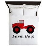 Farm Boy Tractor Queen Duvet
