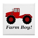 Farm Boy Tractor Tile Coaster
