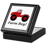 Farm Boy Tractor Keepsake Box