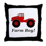 Farm Boy Tractor Throw Pillow