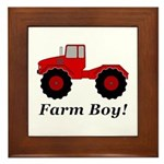 Farm Boy Tractor Framed Tile