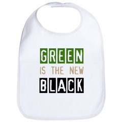 Green is the New Black Bib