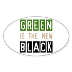 Green is the New Black Oval Sticker
