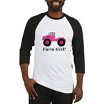 Farm Girl Tractor Baseball Tee