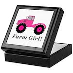 Farm Girl Tractor Keepsake Box