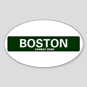 USA STREET SIGN - BOSTON - COMBAT ZONE Sticker