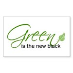 Green is the New Black Rectangle Sticker 10 pk)
