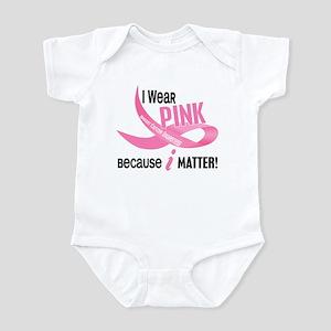 I Wear Pink For Myself 33.2 Infant Bodysuit