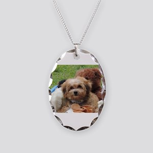 Copper the Havapookie Necklace Oval Charm