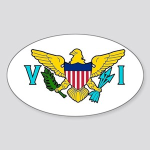 Virgin Island Sticker (oval)