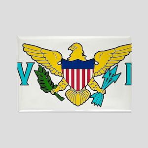 Virgin Island Rectangle Magnet