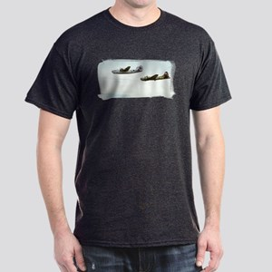 B-24 and B-17 Flying Dark T-Shirt