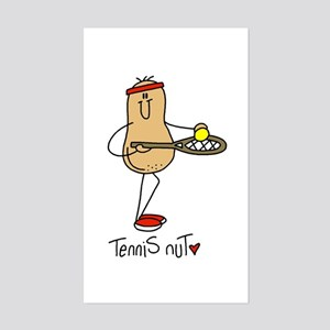 Tennis Nut Sticker (Rectangle)