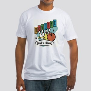 RETRO BOWLING Fitted T-Shirt