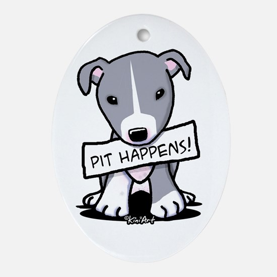 Pit Happens Oval Ornament