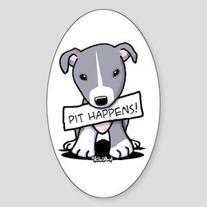 Pit Happens Oval Sticker (10 pk)