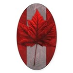 Canada Maple Leaf Souvenir Sticker (Oval)
