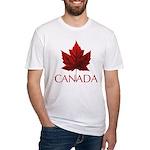 Canada Maple Leaf Souvenir Fitted T-Shirt