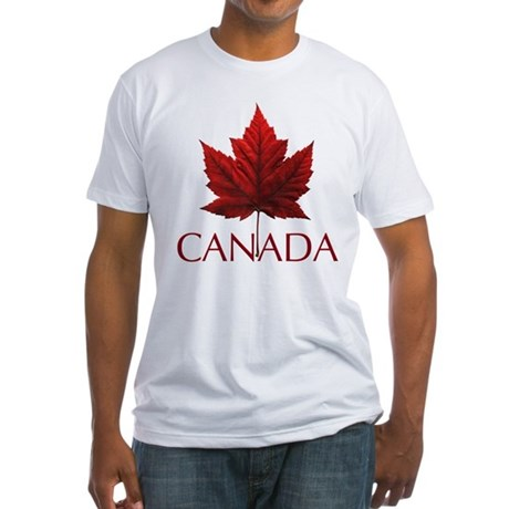 Canada Maple Leaf Souvenir Fitted T-Shirt