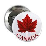 "Canada Maple Leaf Souvenir 2.25"" Button"