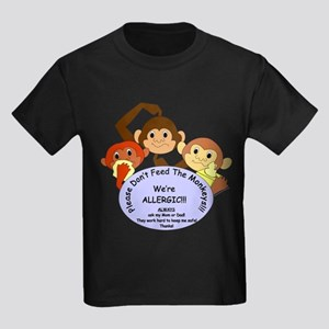 Please Don't Feed The Monkeys! Kids Dark T-Shirt