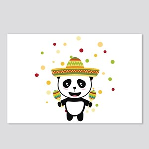 Panda Mexico Fiesta C8y7v Postcards (Package of 8)