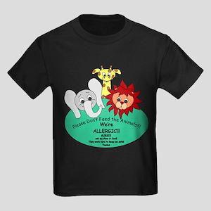 Please Don't Feed the Animals! Kids Dark T-Shirt