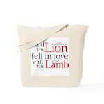Lion Love Lamb Tote Bag