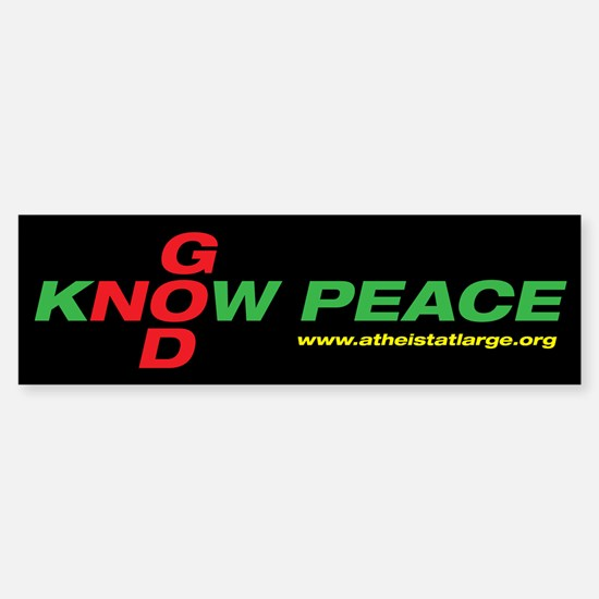 No God, Know Peace bumper sticker