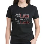 Lion Love Lamb Women's Dark T-Shirt