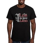 Lion Love Lamb Men's Fitted T-Shirt (dark)