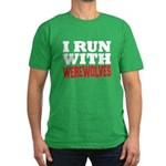 I Run With Werewolves Men's Fitted T-Shirt (dark)