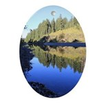 South Fork Eel River California Oval Ornament