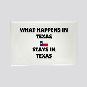 What Happens In TEXAS Stays There Rectangle Magnet
