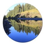 South Fork Eel River California Round Car Magnet