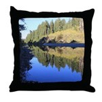 South Fork Eel River California Throw Pillow
