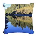 South Fork Eel River California Woven Throw Pillow