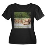 Elk at Prairie Creek Redwoods Plus Size T-Shirt