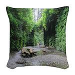 Fern Canyon Woven Throw Pillow