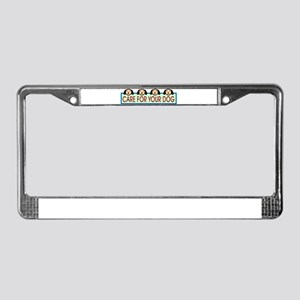 Dog Lovers License Plate Frame