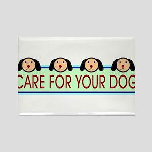 Dog Lovers Rectangle Magnet