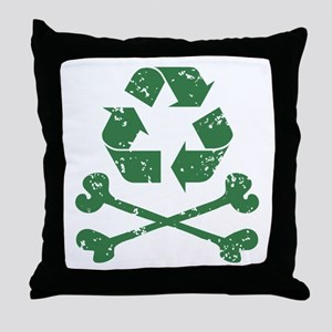 Recycling Pirate Throw Pillow