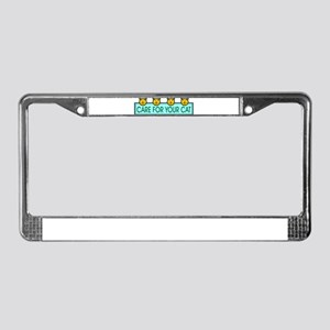 Care For Your Cat License Plate Frame