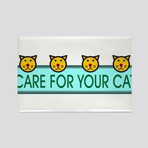 Care For Your Cat Rectangle Magnet