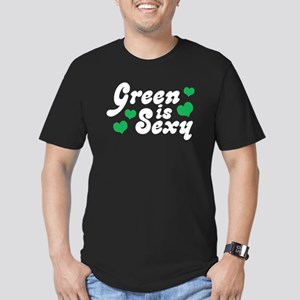 Green is Sexy Men's Fitted T-Shirt (dark)