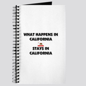 What Happens In CALIFORNIA Stays There Journal