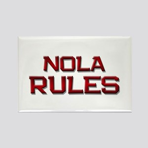 nola rules Rectangle Magnet