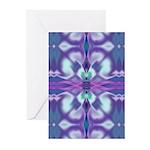 'Virtual Violets' Greeting Cards (10 Pk)
