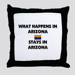 What Happens In ARIZONA Stays There Throw Pillow