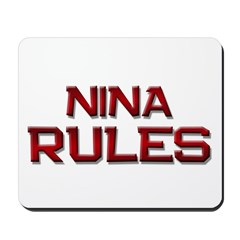 nina rules Mousepad